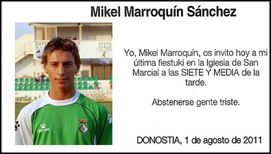 Esquela graciosa Mikel Marroquín